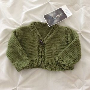 Handknit Infant Sweater Size 6-9 M